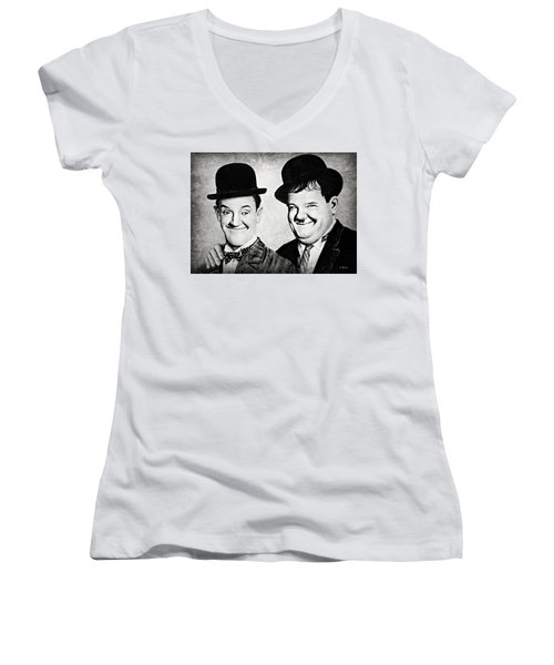 Laurel And Hardy My Pal Women's V-Neck (Athletic Fit)