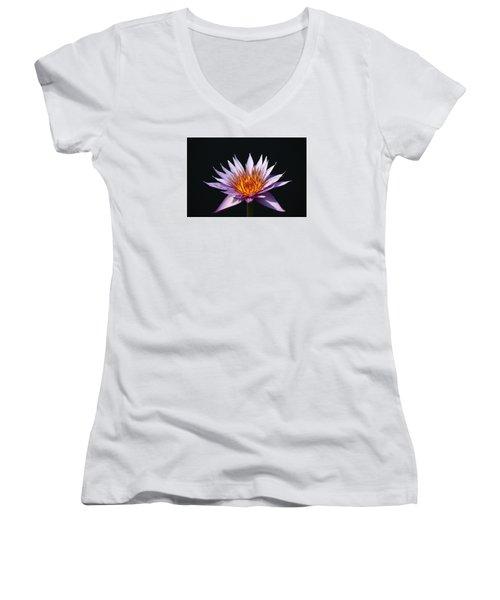 Lavender Fire 1 Women's V-Neck