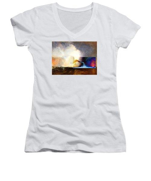 Layered 1 Turner Women's V-Neck T-Shirt (Junior Cut) by David Bridburg