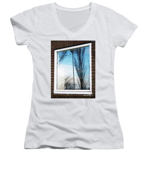 Layers Of Reality Women's V-Neck T-Shirt (Junior Cut) by Ana Mireles