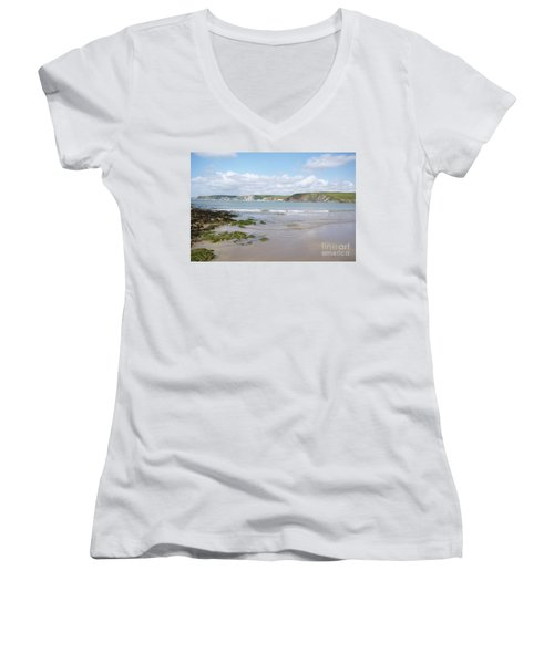 Lazy Devon Days Women's V-Neck (Athletic Fit)