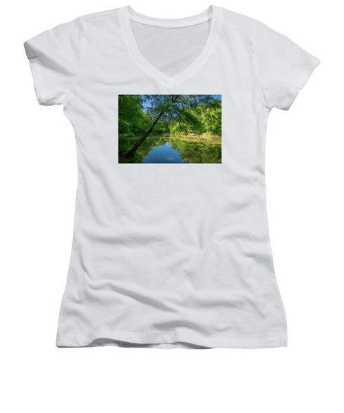 Lazy Summer Day On The River Women's V-Neck