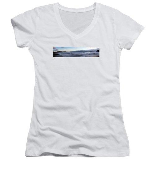 Leading Edge Women's V-Neck T-Shirt (Junior Cut) by Michael Courtney
