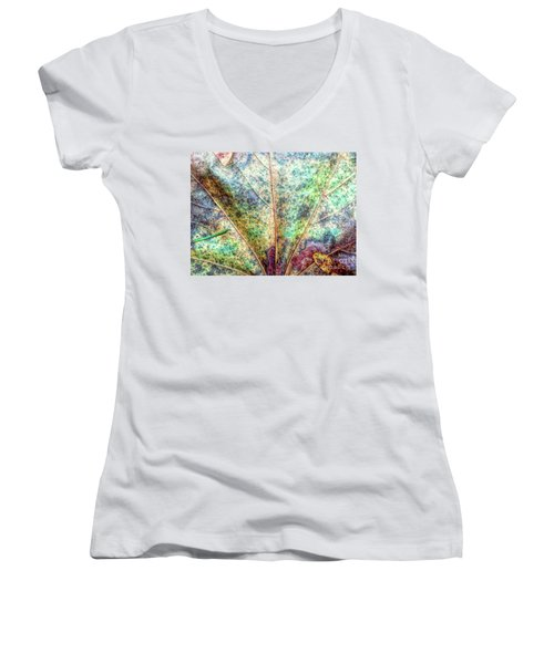 Leaf Terrain Women's V-Neck T-Shirt (Junior Cut) by Todd Breitling