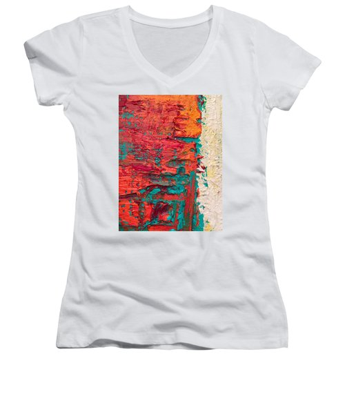 Learning Curve One Women's V-Neck T-Shirt (Junior Cut) by Heather Roddy