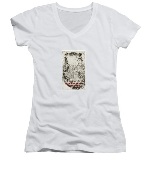 Learning To Love Rats More #3 Women's V-Neck (Athletic Fit)