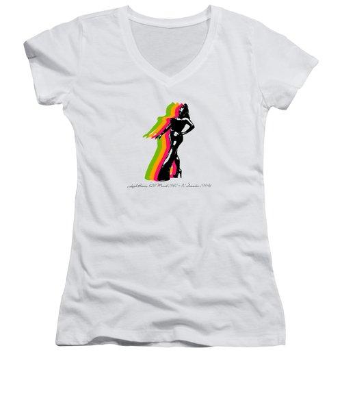 Leigh Bowery 5 Women's V-Neck T-Shirt (Junior Cut)