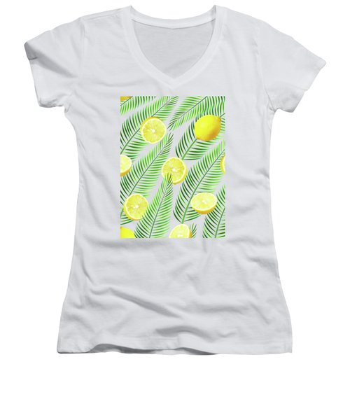 Lemons Women's V-Neck T-Shirt