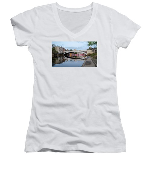 Lendal Bridge Reflection  Women's V-Neck T-Shirt