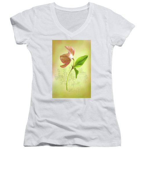 Lenton Rose 1 Women's V-Neck