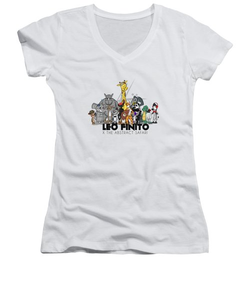 Leo Finito And The Abstract Safari Women's V-Neck (Athletic Fit)