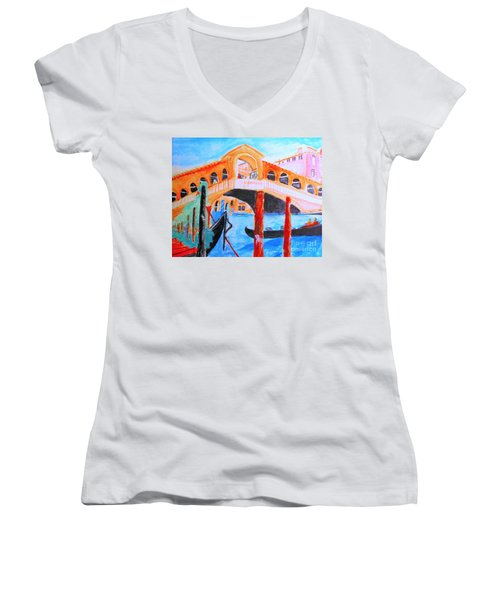Leonardo Festival Of Venice Women's V-Neck (Athletic Fit)