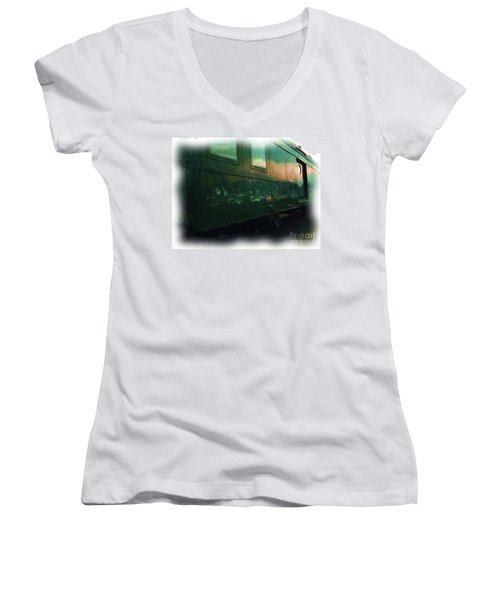 Let It Roll Baby Roll Women's V-Neck (Athletic Fit)
