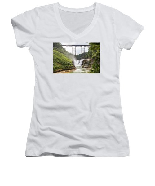 Letchworth Upper Falls Women's V-Neck