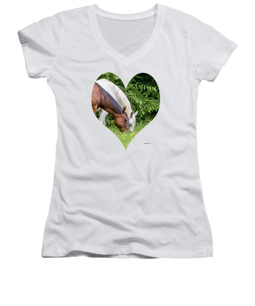 Let's Eat Out Women's V-Neck (Athletic Fit)