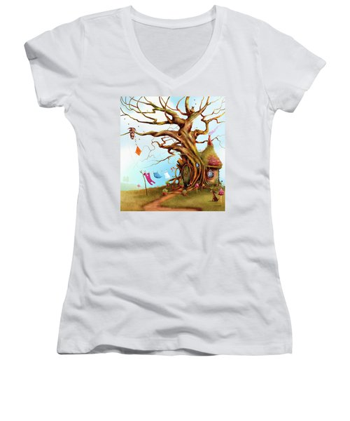 Let's Go Fly A Kite Women's V-Neck (Athletic Fit)