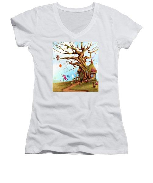 Let's Go Fly A Kite Women's V-Neck T-Shirt