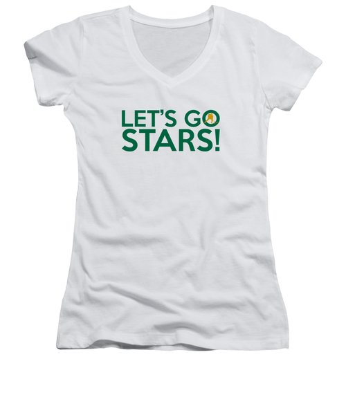 Let's Go Stars Women's V-Neck T-Shirt (Junior Cut) by Florian Rodarte