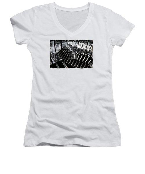 Letters Women's V-Neck T-Shirt (Junior Cut) by Michal Boubin