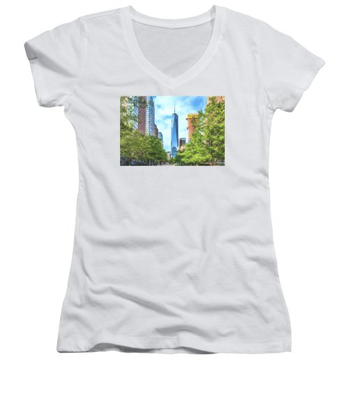Liberty Tower Women's V-Neck