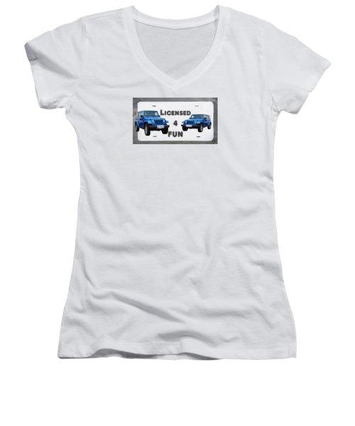 Licensed 4 Fun Women's V-Neck T-Shirt