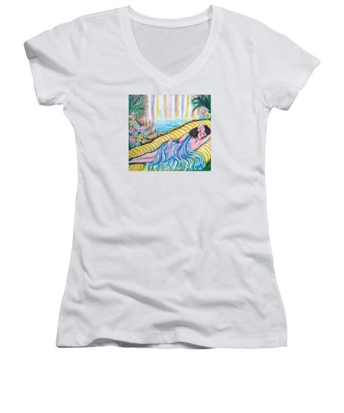Life Doesn't Get Any Better Women's V-Neck T-Shirt (Junior Cut) by Anya Heller