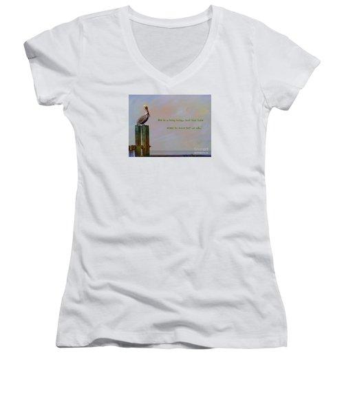 Women's V-Neck T-Shirt (Junior Cut) featuring the photograph Life Is A Long Song by John Kolenberg