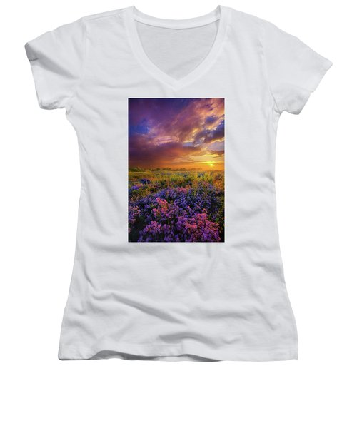 Life Is Measured In Moments Women's V-Neck