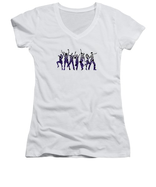 Life Of The Party Ultraviolet Women's V-Neck (Athletic Fit)