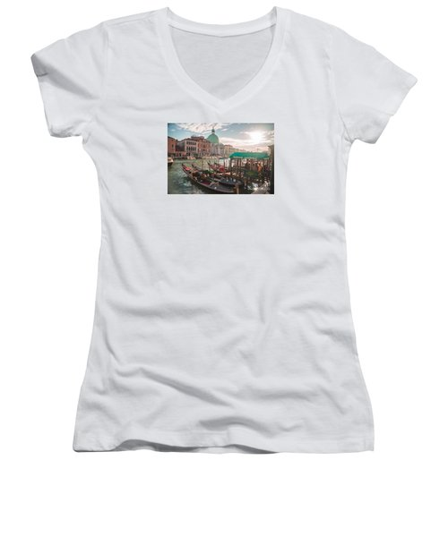 Life Of Venice - Italy Women's V-Neck (Athletic Fit)
