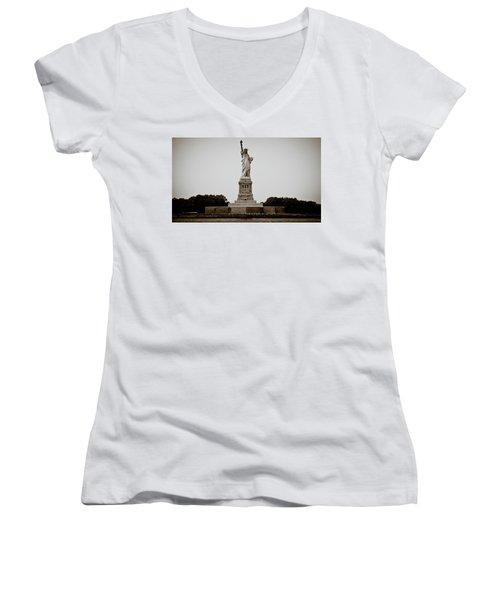 Women's V-Neck T-Shirt (Junior Cut) featuring the photograph Liftin' Me Higher by David Sutton