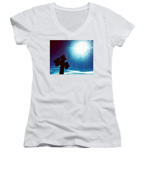 Light And Shadow Clash Women's V-Neck