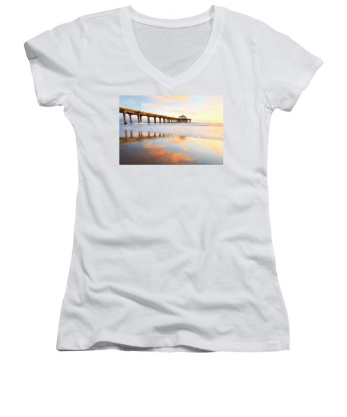 Light Reflections Women's V-Neck T-Shirt (Junior Cut) by Nicki Frates