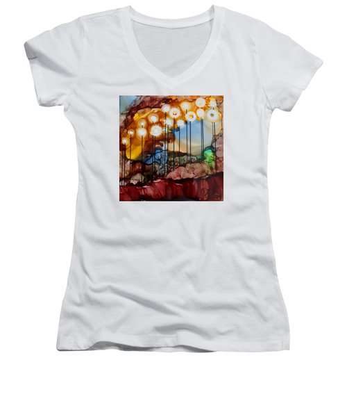 Light The Way Women's V-Neck T-Shirt (Junior Cut) by Joanne Smoley