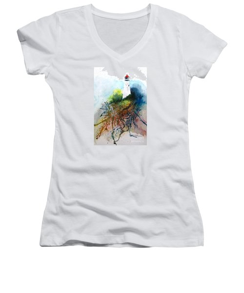 Lighthouse I - Original Sold Women's V-Neck T-Shirt