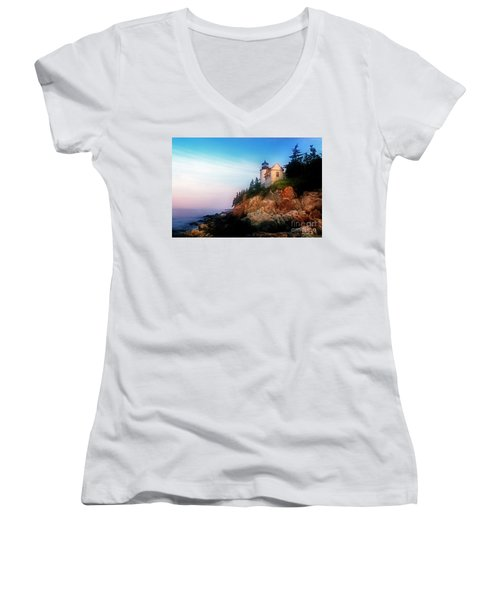 Lighthouse Sunrise Women's V-Neck