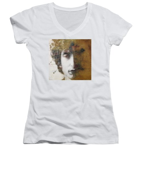 Like A Rolling Stone  Women's V-Neck (Athletic Fit)
