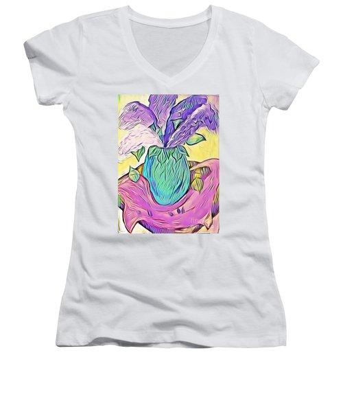 Lilacs Women's V-Neck