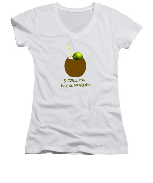Lime In The Coconut Women's V-Neck T-Shirt