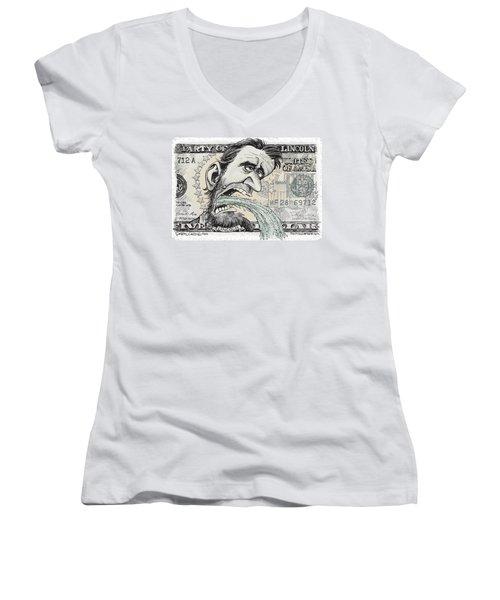 Lincoln Barfs Women's V-Neck