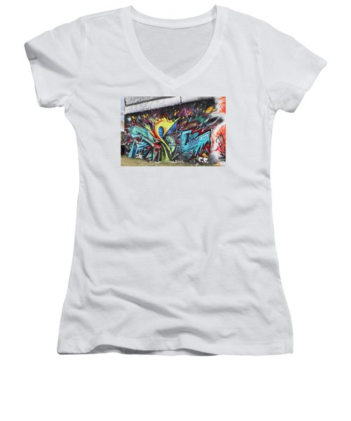 Lincoln Street Women's V-Neck T-Shirt (Junior Cut) by Sheila Mcdonald