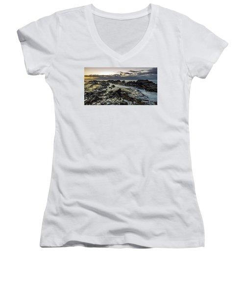 Lines Of Time Women's V-Neck T-Shirt