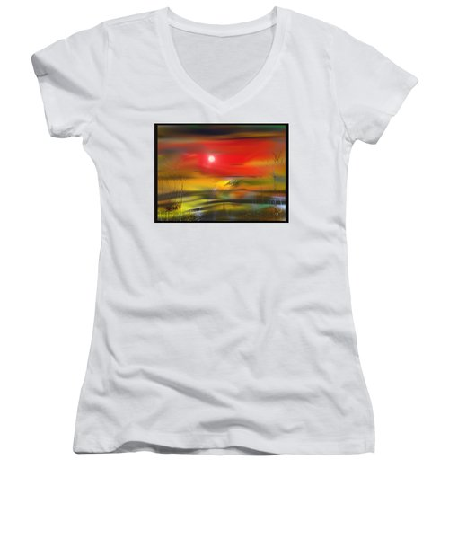 Midnight Flame Women's V-Neck (Athletic Fit)