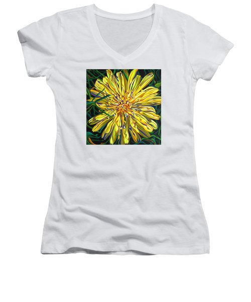 Lion In The Grass Women's V-Neck