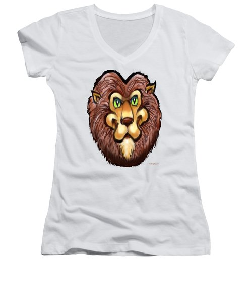 Lion Women's V-Neck