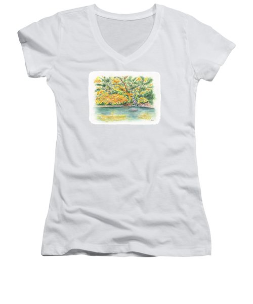 Lithia Park Reflections Women's V-Neck