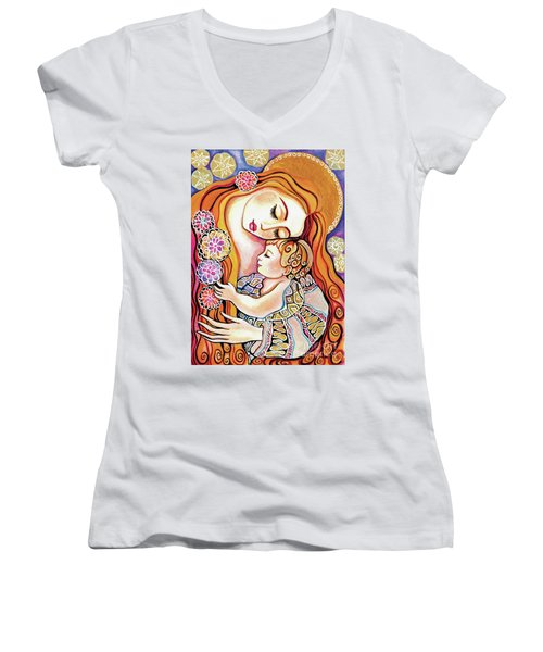Little Angel Sleeping Women's V-Neck (Athletic Fit)