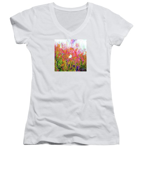 Little Butterfly Fly Women's V-Neck