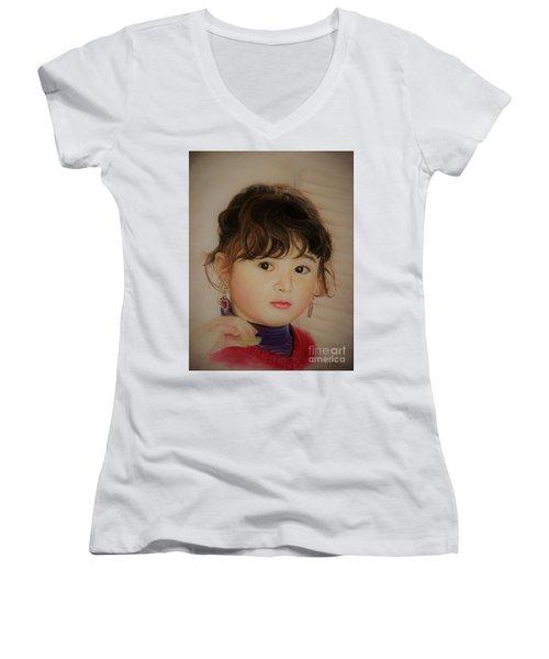Little Girl Women's V-Neck
