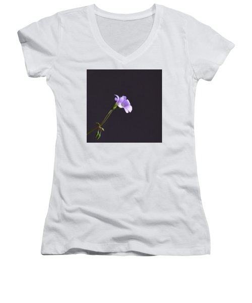 Little Lavender Flowers Women's V-Neck (Athletic Fit)